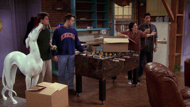 "Knicks Sweatshirt Worn by Matt LeBlanc (Joey Tribbiani) in Friends Season 4 Episode 11 ""The One with Phoebe's Uterus"" (1998) - TV Show Product Placement"