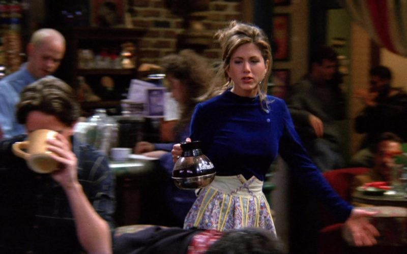 Koffee King Held by Jennifer Aniston (Rachel Green) in Friends Season 1 Episode 12 (1)