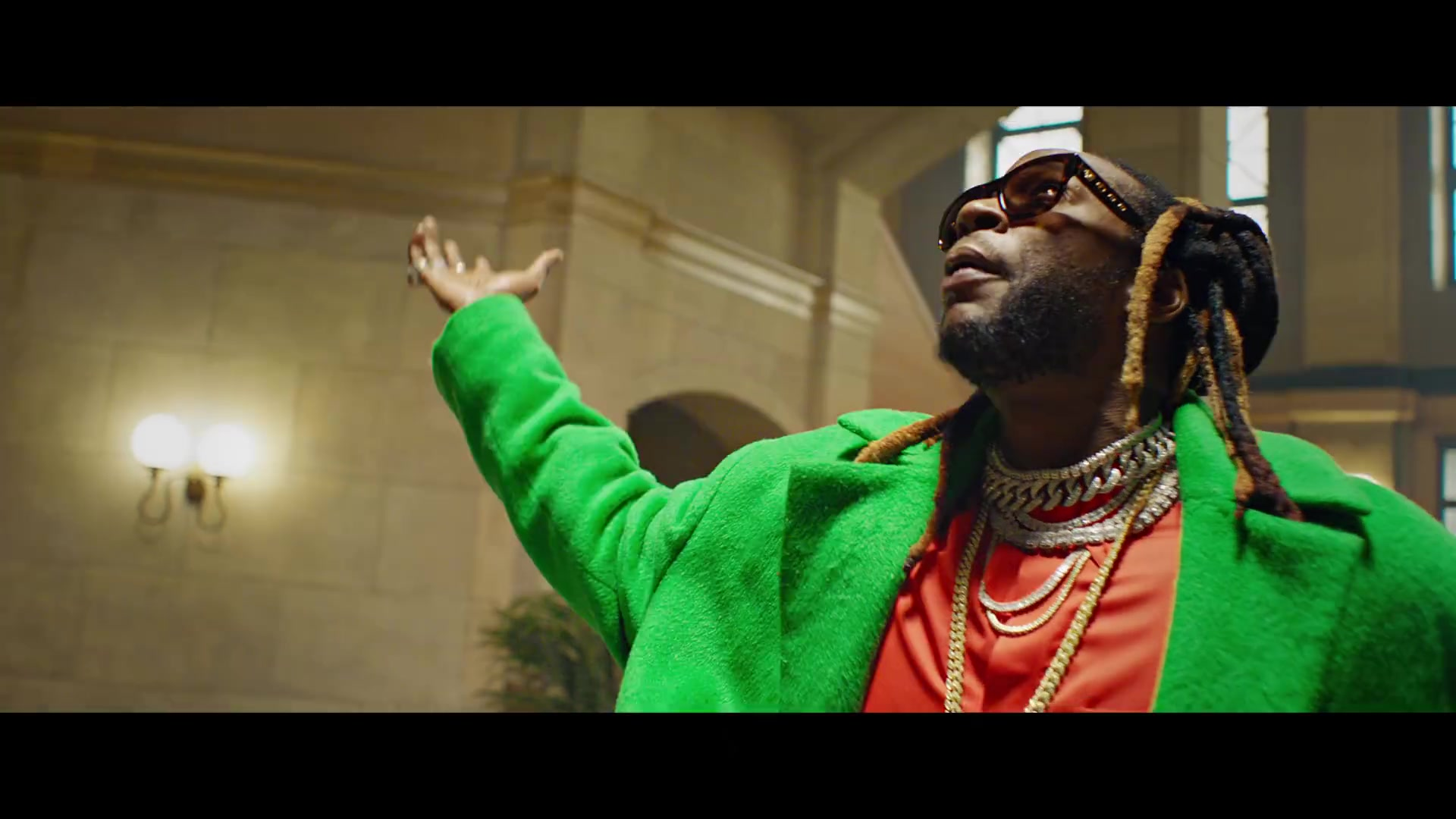 5f9467de749f LV Sunglasses Worn by 2 Chainz in Money In The Way (2019) Official Music