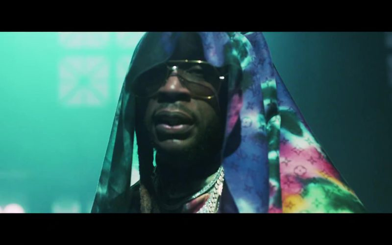 Louis Vuitton Scarf Worn by 2 Chainz in Money In The Way (5)