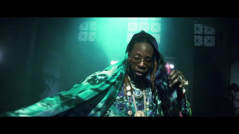 Louis Vuitton Scarf Worn by 2 Chainz in Money In The Way (2019) - Official Music Video Product Placement