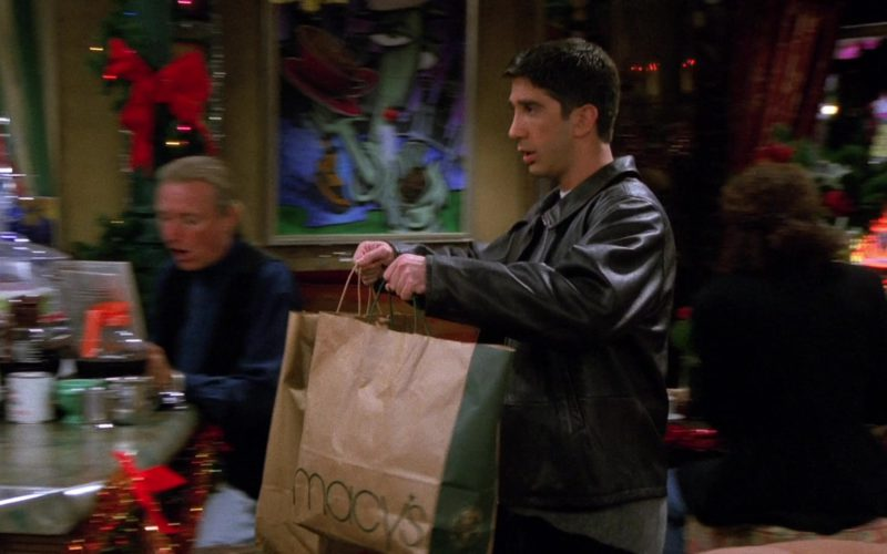 Macy's Store Paper Bag Held by David Schwimmer (Ross Geller) in Friends