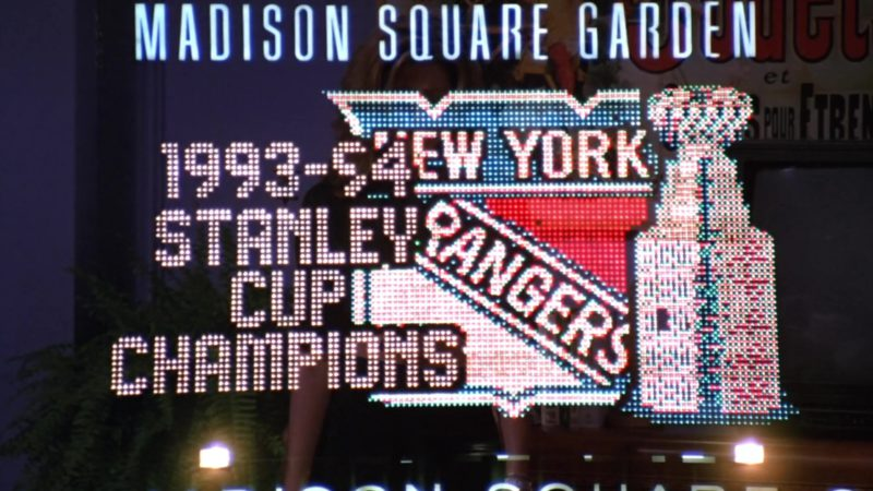 """Madison Square Garden and New York Rangers in Friends Season 1 Episode 4 """"The One with George Stephanopoulos"""" (1994) - TV Show Product Placement"""