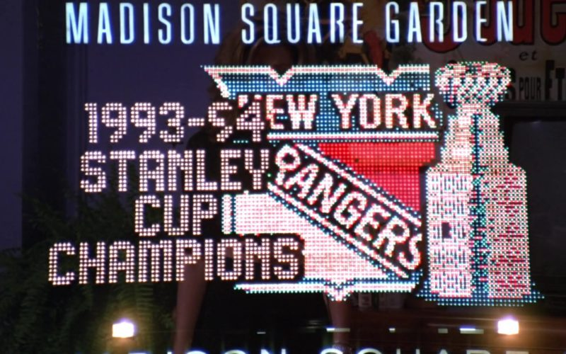 Madison Square Garden and New York Rangers in Friends Season 1 Episode 4