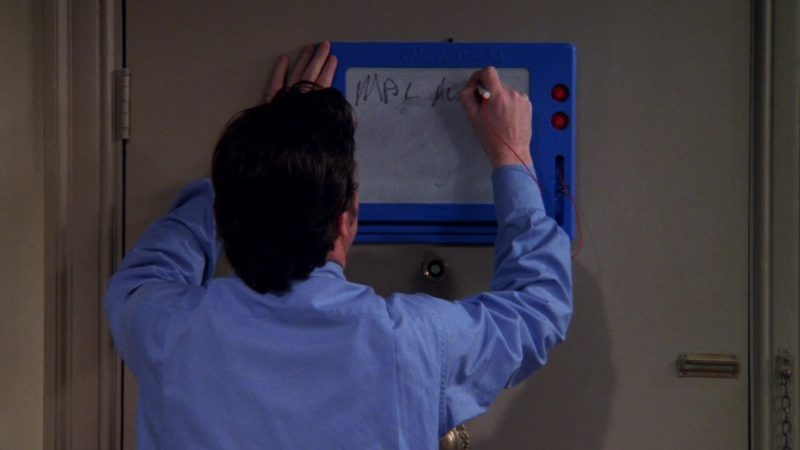 """Magna Doodle in Friends Season 6 Episode 20 """"The One With Mac and C.H.E.E.S.E."""" (2000) TV Show Product Placement"""
