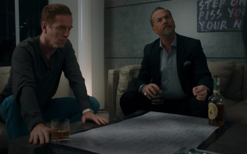 Michter's Bourbon Whiskey Drunk by Damian Lewis (Bobby Axelrod) and David Costabile (Mike Wagner) in Billions (2)