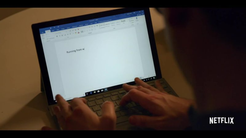 Microsoft Surface Tablet and Microsoft Word Used by Ryan O'Connell in Special Season 1 (2019) TV Show