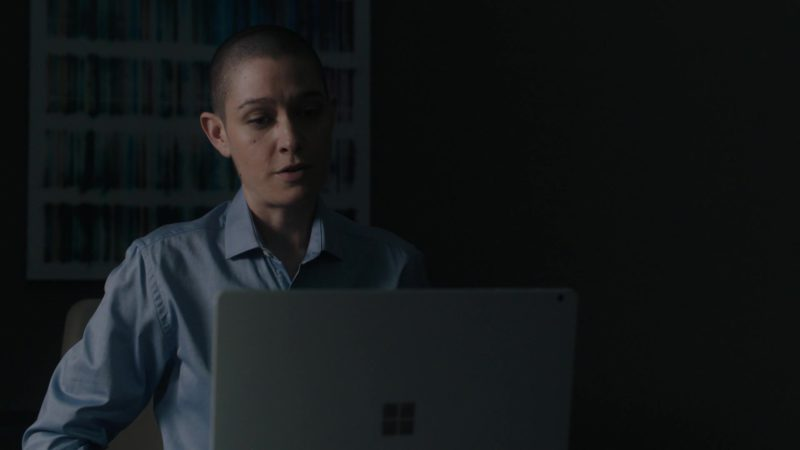Microsoft Surface Windows Tablet Used by Asia Kate Dillon (Taylor Mason) in Billions Season 4 Episode 1: Chucky Rhoades's Greatest Game (2019) TV Show Product Placement