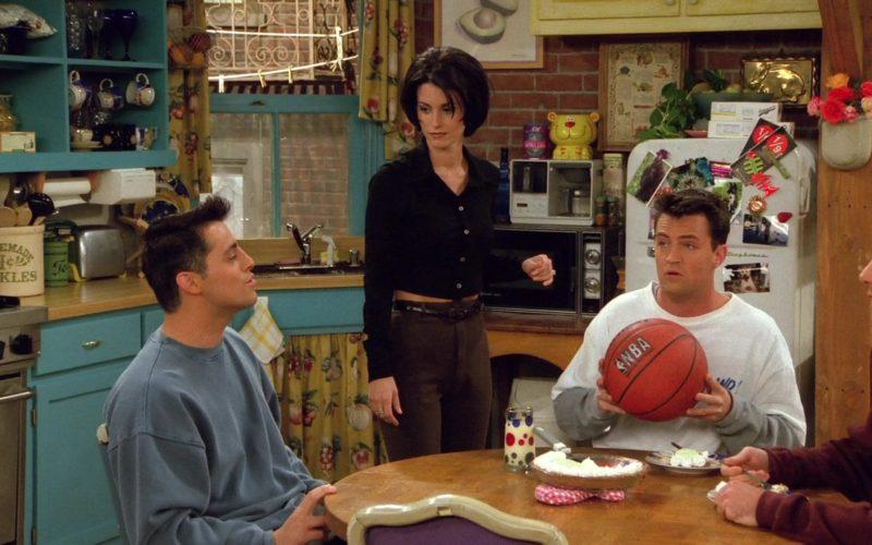 NBA Basketball Held by Matthew Perry (Chandler Bing) in Friends Season 2 Episode 6