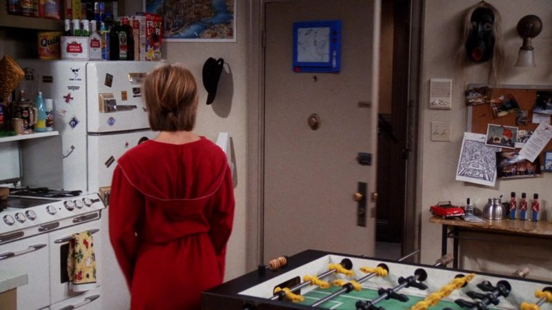 """Nestle Quik, Stella Artois Beer, Jägermeister, Kellogg's Froot Loops Cereal in Friends Season 7 Episode 7 """"The One With Ross' Library Book"""" (2000) - TV Show Product Placement"""