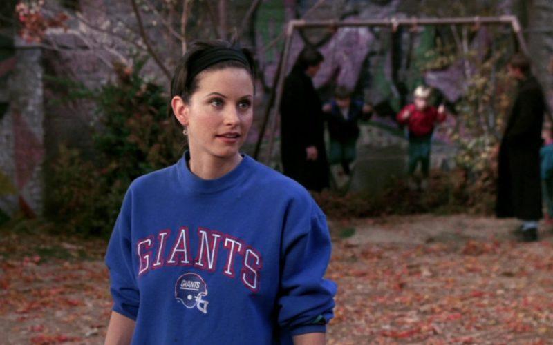 New York Giants American Football Team Blue Sweatshirt Worn by Courteney Cox (Monica Geller) in Friends (7)