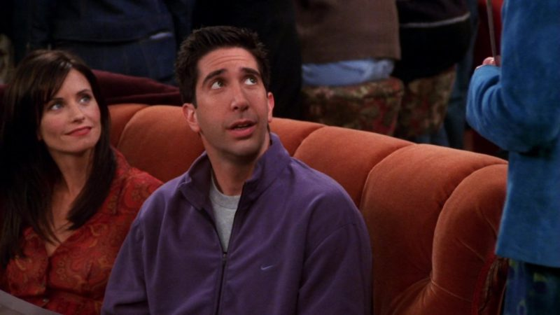 """Nike Jacket Worn by David Schwimmer (Ross Geller) in Friends Season 7 Episode 5 """"The One With the Engagement Picture"""" (2000) TV Show Product Placement"""