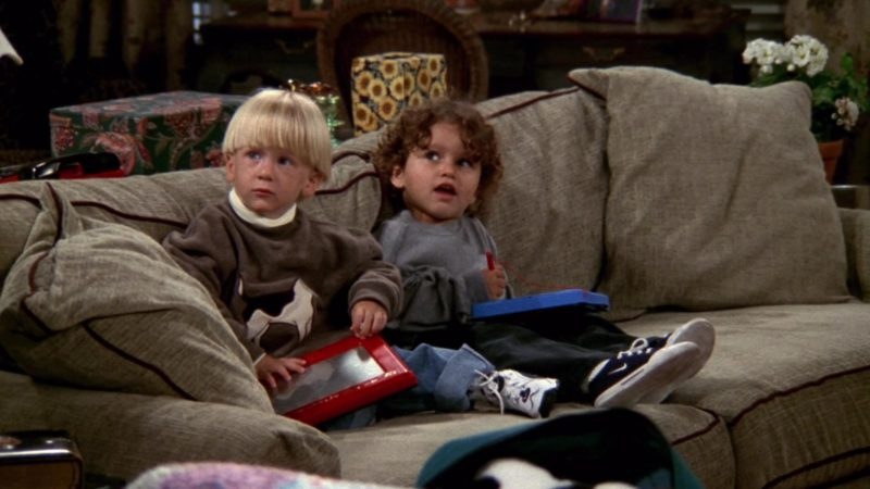 "Nike Kids Shoes in Friends Season 4 Episode 5 ""The One with Joey's New Girlfriend"" (1997) - TV Show Product Placement"
