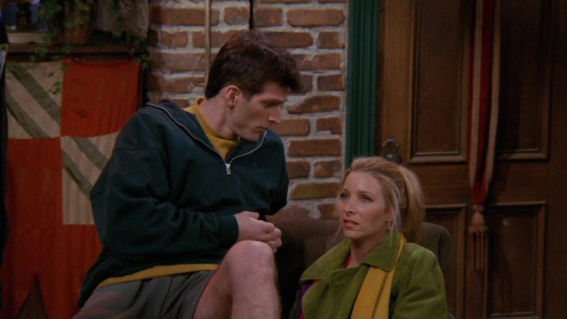 "Nike Men's Green Hoodie Worn by Markus Flanagan (Robert) in Friends Season 3 Episode 13 ""The One Where Monica and Richard are Just Friends"" (1997) - TV Show Product Placement"