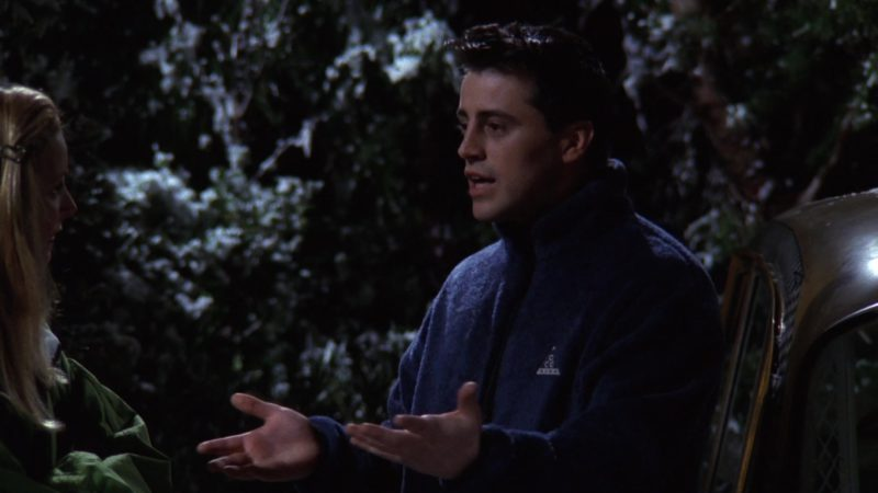 """Nike Pullover Worn by Matt LeBlanc (Joey Tribbiani) in Friends Season 3 Episode 17 """"The One Without the Ski Trip"""" (1997) TV Show Product Placement"""
