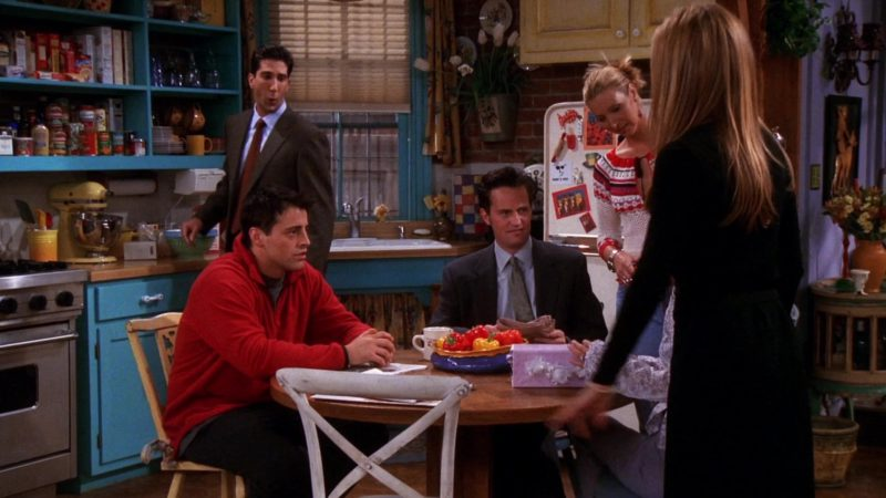 "Nike Red Jacket Worn by Matt LeBlanc (Joey Tribbiani) in Friends Season 7 Episode 2 ""The One With Rachel's Book"" (2000) TV Show Product Placement"