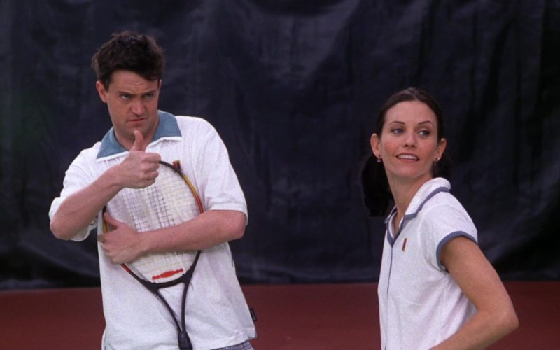"""Nike Shirt and Prince Racket Used by Matthew Perry (Chandler Bing) in Friends Season 5 Episode 12 """" (1)"""