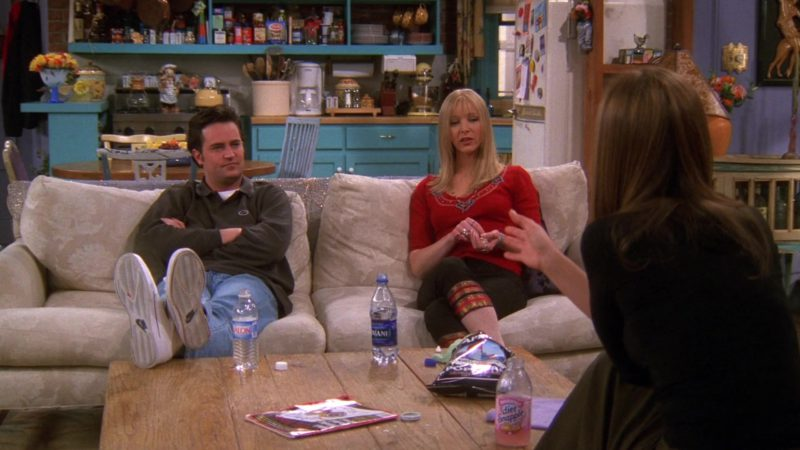 "Nike Shoes Worn by Matthew Perry (Chandler Bing), Dasani Water and Diet Snapple Tea in Friends Season 6 Episode 19 ""The One With Joey's Fridge"" (2000) TV Show Product Placement"