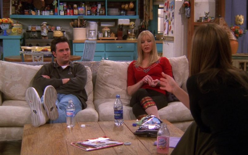 Nike Shoes Worn by Matthew Perry (Chandler Bing), Dasani Water and Diet Snapple Tea in Friends Season 6 Episode 19