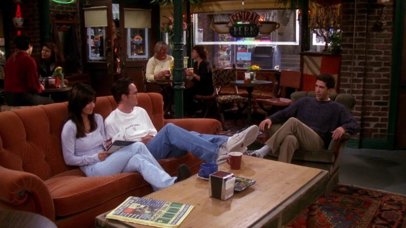 """Nike Trainer Shoes Worn by Matthew Perry (Chandler Bing) in Friends Season 7 Episode 3 """"The One With Phoebe's Cookies"""" (2000) - TV Show Product Placement"""