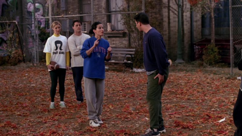 """Nike Women's Sneakers Worn by Courteney Cox (Monica Geller) in Friends Season 3 Episode 9 """"The One with the Football"""" (1996) - TV Show Product Placement"""