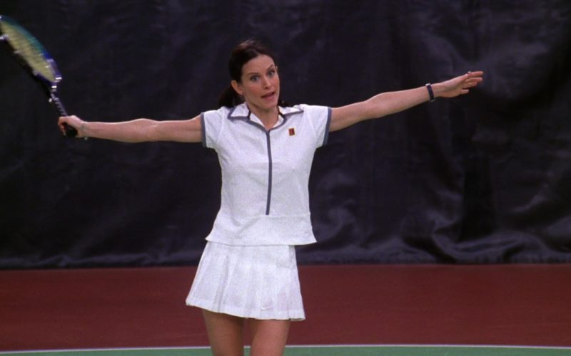 Nike Women's Tennis Shirt and Nike White Sports Skirt Worn by Courteney Cox (Monica Geller) in Friends (1)