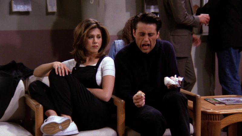 "Nike Women's White Shoes Worn by Jennifer Aniston (Rachel Green) in Friends Season 1 Episode 23 ""The One With the Birth"" (1995) - TV Show Product Placement"