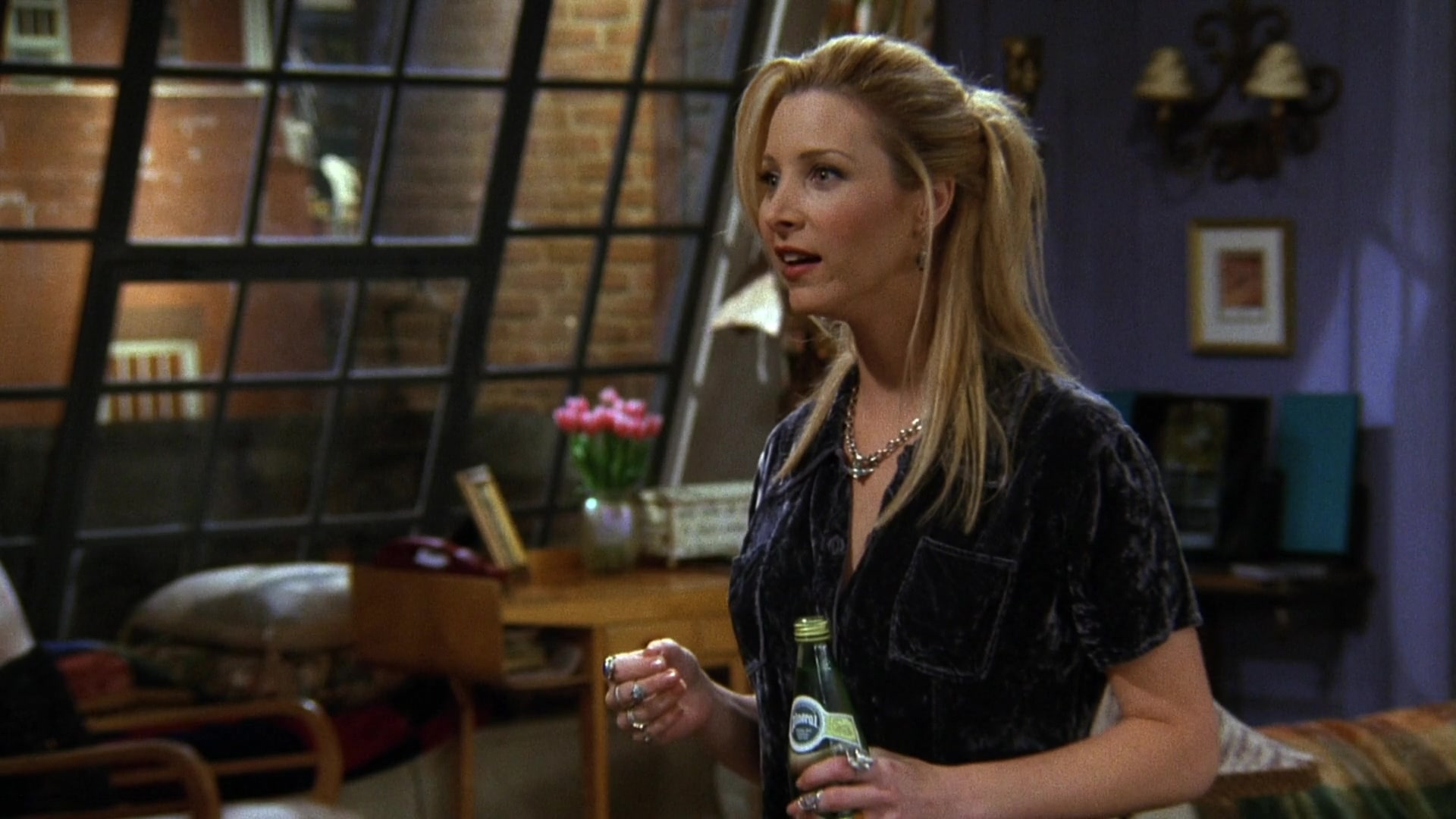 Perrier Water Bottle Held by Lisa Kudrow (Phoebe Buffay) in