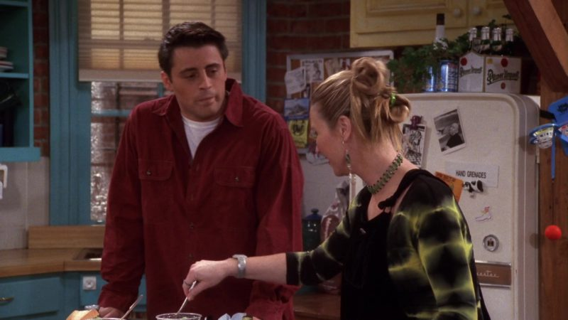 """Pilsner Urquell Beer Pack in Friends Season 4 Episode 14 """"The One with Joey's Dirty Day"""" (1998) - TV Show Product Placement"""