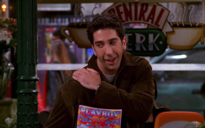 Playboy 2000 January Single Issue Magazine Held by David Schwimmer (Ross Geller) in Friends Season 6 Episode 11 (2)