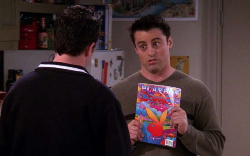 Playboy January 2000 Single Issue Magazine Held by Matt LeBlanc (Joey Tribbiani) in Friends Season 6 Episode 12