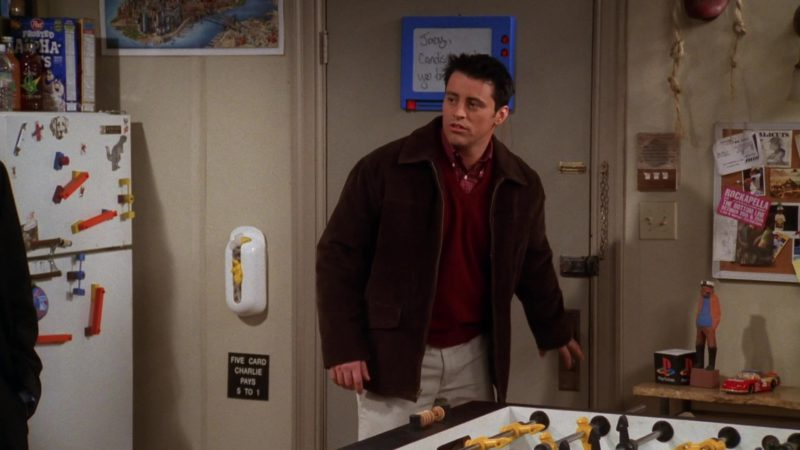 "Post Cereal and Sony Playstation Box in Friends Season 5 Episode 18 ""The One Where Rachel Smokes"" (1999) TV Show Product Placement"