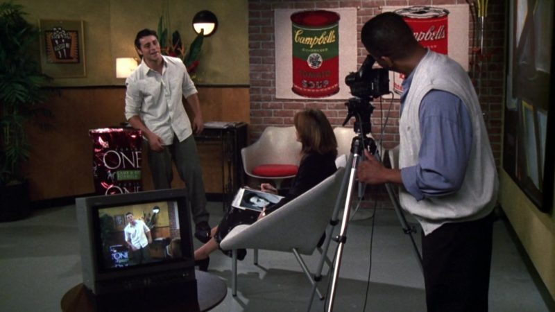 "Purina ONE Dog Food and Campbell's Soup Company Posters in Friends Season 6 Episode 4 ""The One Where Joey Loses His Insurance"" (1999) - TV Show Product Placement"