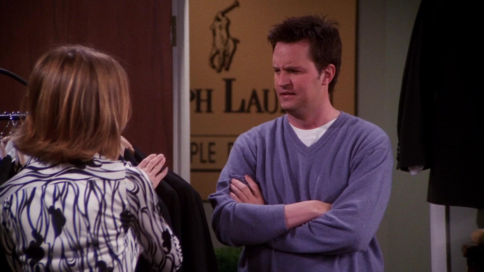 """Ralph Lauren Sign in Friends Season 7 Episode 20 """"The One"""