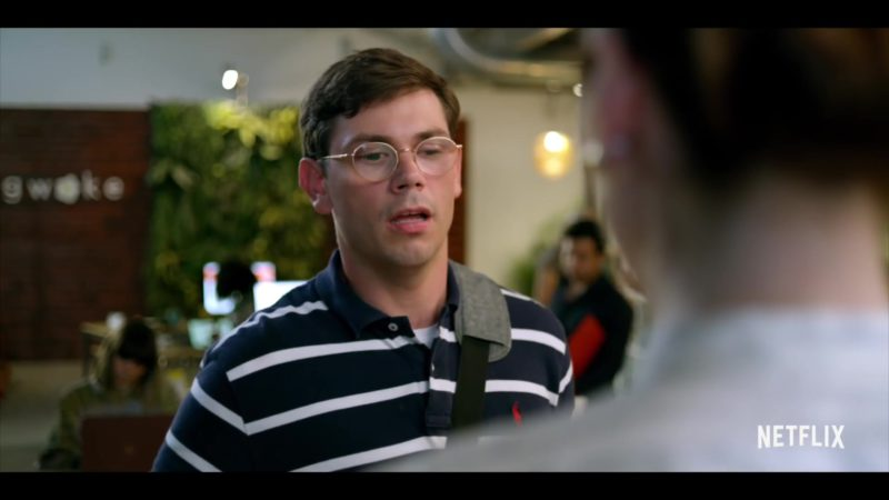 Ralph Lauren Striped Polo Shirt Worn by Ryan O'Connell in Special Season 1 (2019) - TV Show Product Placement