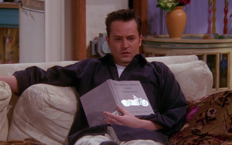 Rebuilding the Indian Book by Fred Haefele Held by Matthew Perry (Chandler Bing) in Friends