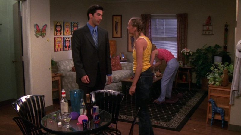 """Red Bull Energy Drink in Friends Season 6 Episode 24 """"The One with the Proposal Part 1"""" (2000) - TV Show Product Placement"""