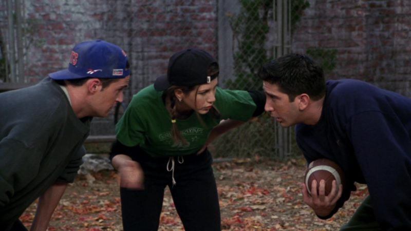 "Reebok x New York Giants American Football Team Cap Worn by Matthew Perry (Chandler Bing) in Friends Season 3 Episode 9 ""The One with the Football"" (1996) TV Show Product Placement"