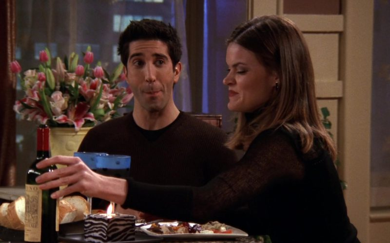 Ruffino Wine Drunk by David Schwimmer (Ross Geller) in Friends Season 6 Episode 8 (1)
