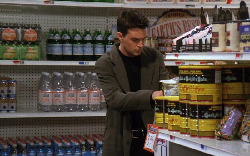 S. Pellegrino, Acqua Panna, Chock full o'Nuts Coffee in Friends Season 3 Episode 4 (1)