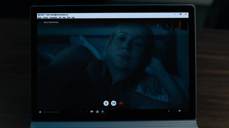 Skype and Microsoft Surface Tablet in Billions Season 4 Episode 1: Chucky Rhoades's Greatest Game (2019) - TV Show Product Placement