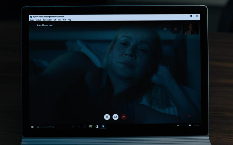 Skype and Microsoft Surface Tablet in Billions Season 4 Episode 1