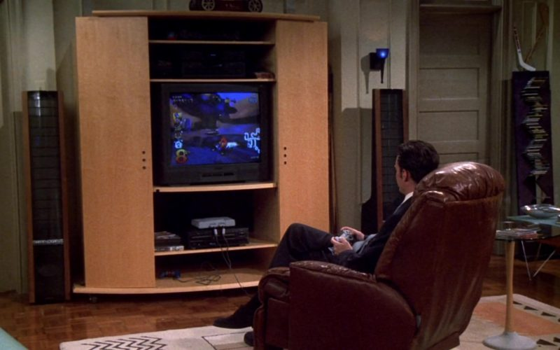 Sony PlayStation Home Video Game Console Used by Matthew Perry (Chandler Bing) in Friends Season 7 Episode 1