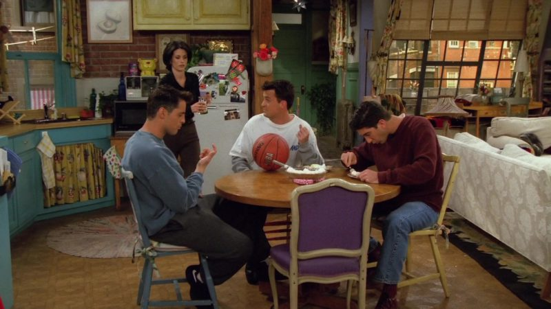 """Spalding x NBA Basketball in Friends Season 2 Episode 6 """"The One With the Baby on the Bus"""" (1995) - TV Show Product Placement"""