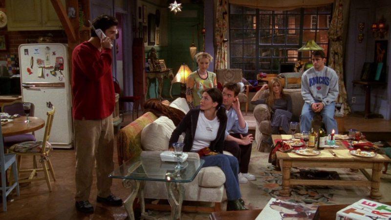 "Starter Knicks Sweatshirt Worn by Matt LeBlanc (Joey Tribbiani) in Friends Season 5 Episode 6 ""The One With the Yeti"" (1998) - TV Show Product Placement"