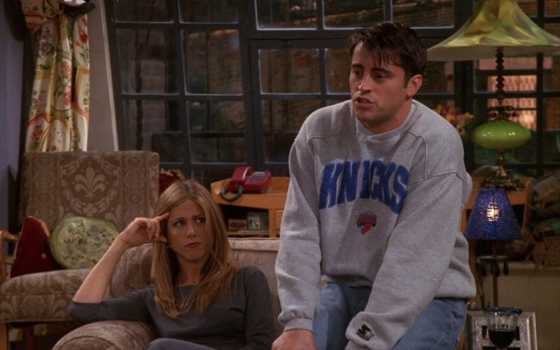 Starter Knicks Sweatshirt Worn by Matt LeBlanc (Joey Tribbiani) in Friends Season 5 Episode 6 (17)