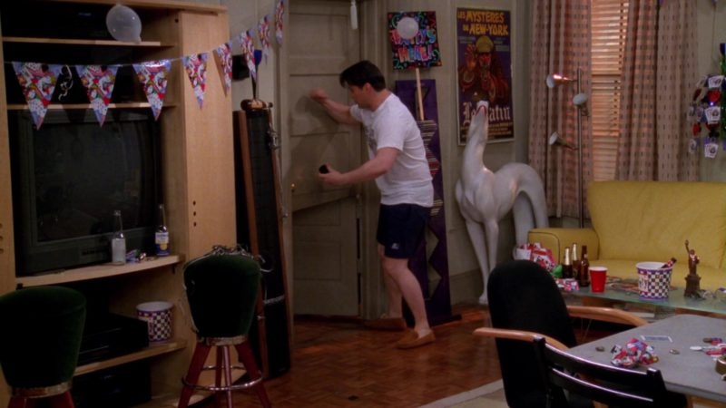 """Starter Shorts Worn by Matt LeBlanc (Joey Tribbiani) in Friends Season 4 Episode 23 """"The One With Ross' Wedding"""" (1998) - TV Show Product Placement"""