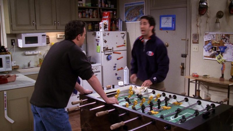 """Starter Sweatshirt Worn by David Schwimmer (Ross Geller) in Friends Season 5 Episode 10 """"The One With the Inappropriate Sister"""" (1998) - TV Show Product Placement"""
