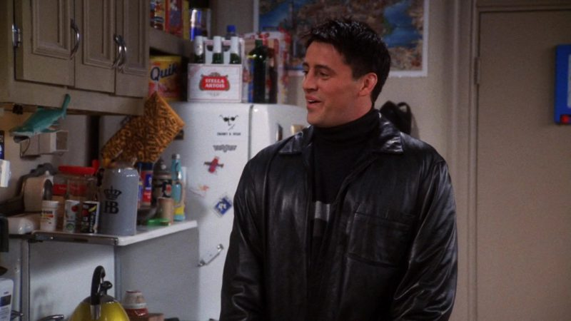 """Stella Artois Beer and Nestle Quik in Friends Season 7 Episode 7 """"The One With Ross' Library Book"""" (2000) - TV Show Product Placement"""