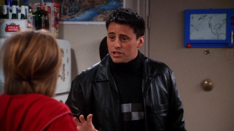 """Stella Artois Beer in Friends Season 7 Episode 7 """"The One With Ross' Library Book"""" (2000) - TV Show Product Placement"""